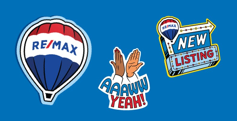 Stickers RE/MAX en español para tu WhatsApp