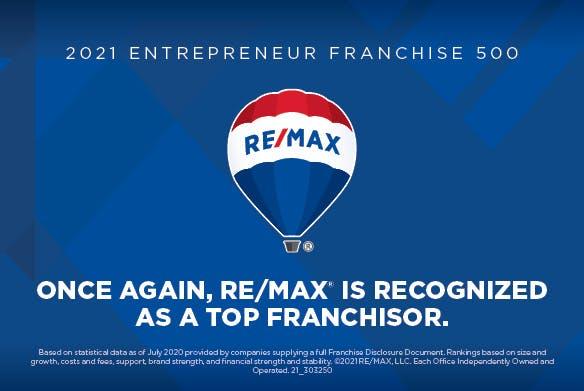 RE/MAX es reconocido como la mejor empresa franquiciadora por la revista Entrepreneur